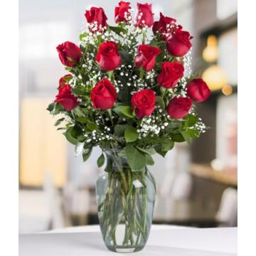 15 Rosas en Florero