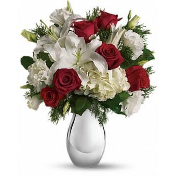Rosas, Lisianthus & Liliums