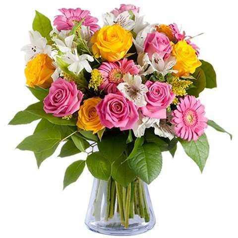 Rosas Amarillas y Rosadas